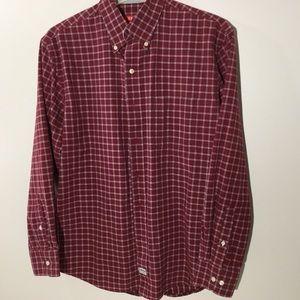 IZOD Men's Long Sleeve Dress shirt M